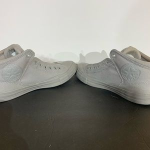Converse Gray Canvas High Top Sneakers Shoes - 9